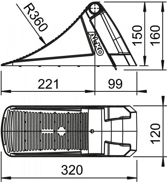 Unterlegkeil UK 36 KL, schwarz