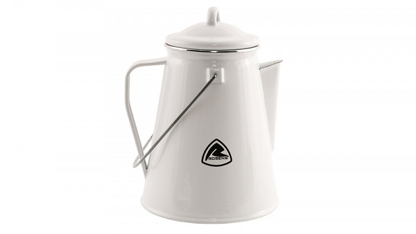 Kaffeekanne Tongass Emaille, Fb. weiß