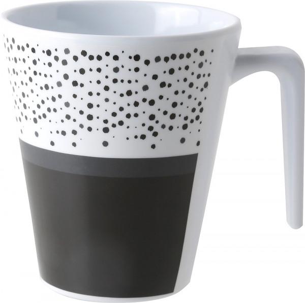 Henkelbecher Pralin 300 ml weiß/schwarz