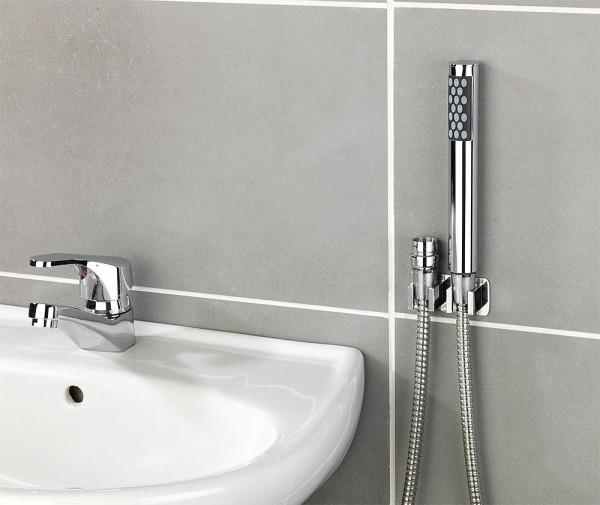 Waschbecken-Dusche mit DUO Haken