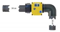 """Elektrisches-Kugelhahnventil-System Kunststoff 1"""" Steckgewinde beidseitig"""