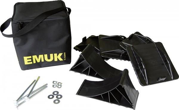 Tukilevy-sarja-+ kiilat  EMUK, kotelossa - Nurkkatuet ja nostimet - 9978291 - 2