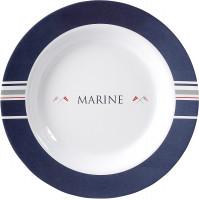 Suppenteller Marine Durchm. 23,5 cm blau/weiß