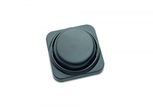 Abdeckung und Drehknopf für Dimmer schwarz