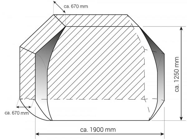Schutzhülle für Radträger City 3-Räder graphitgrau