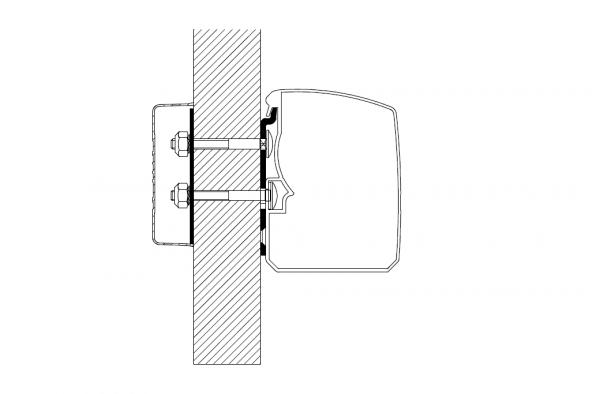 Adapter zu Wandmarkise Omnistor 3200 Flat Wall