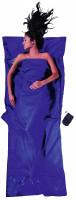 Leicht-Reiseschlafsack 220 x 90 cm ultramarine blue Seide