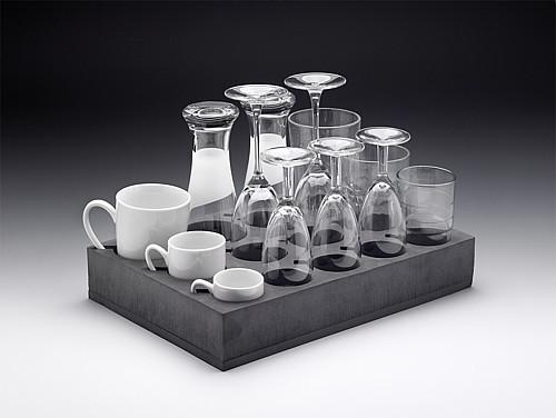 Gläser- und Tassenhalter aus Gummi-Kunststoff