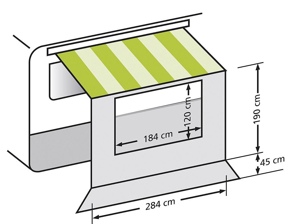 universal vorderwand f r markisen sonnend cher schutz. Black Bedroom Furniture Sets. Home Design Ideas