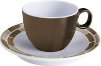 Espressotasse mit Untertasse Chocolate braun/weiß 100 ml
