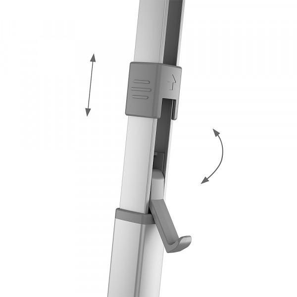 Wandmarkise PerfectWall PW 1100 Gehäuse weiß, Tuch Horizon Grey