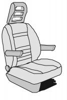 Schonbezug Isri Atessa Sitz Basis Ducato bis 5/2014 Velours, 2-teilig