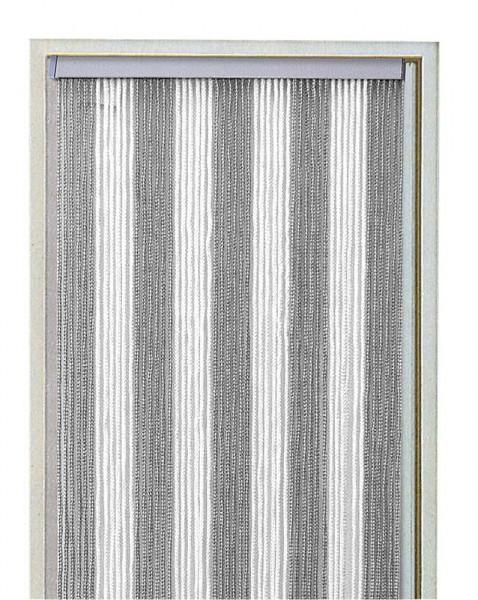 Oviverho Arisol 100x220 cm valko/hopea - Hyttysovet.verhot, pompulaverhot, verkot - 9940165 - 3