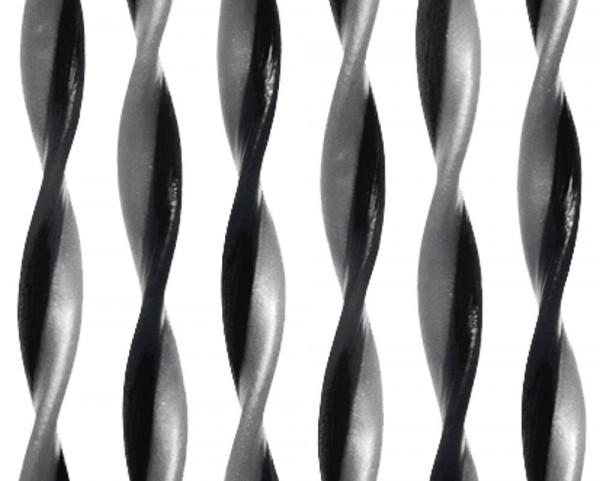 Türvorhang String, schwarz/grau