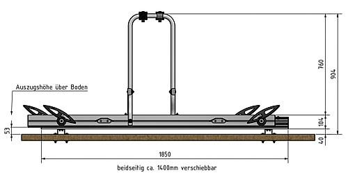 Heckgaragenfahrradträger Weih Slide Move HG-250