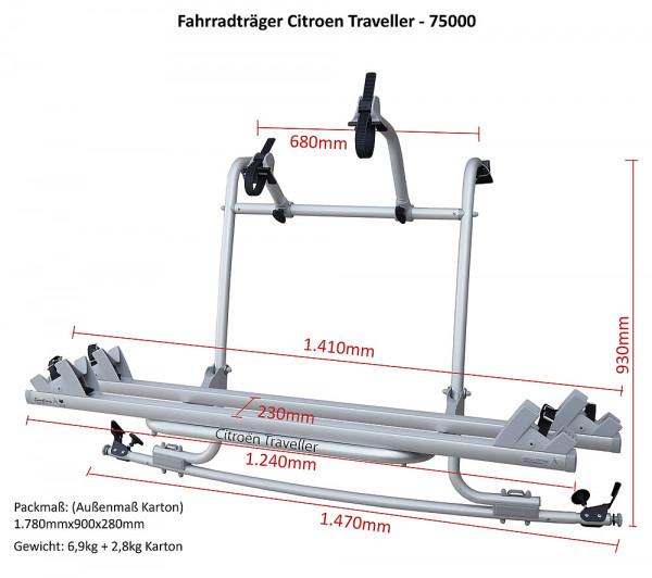 Fahrradträger für Citroen Spacetourer, Campster, Peugeot Traveller, Toyota ProAce, Opel Zafira ab 20