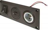 Einbausteckdose EV mit USB-C/A Doppelsteckdose schaltbar