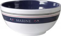 Müslischale Marine Durchm. 15 cm blau/weiß