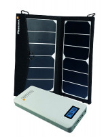 Mobile Solarladestation Trek King 2 x 7 & Powerpack MP 18