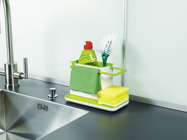 Ordnungshelfer Caddy fürs Spülbecken weiß/grün