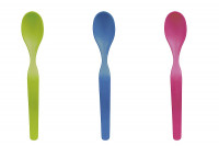 Babylöffel 3er Set lime, blue, pink