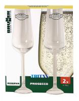 Prosecco Glas Riserva 2er Set, 250 ml