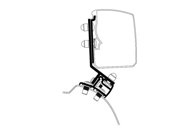 Adapter zu Wandmarkise Omnistor 3200 PSA Minivan Fixed _LHD_