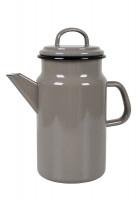Tee-/ Kaffeekanne Emaille Taupe