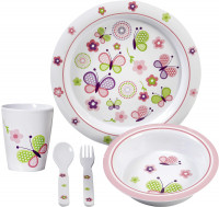 Geschirrset Butterfly Kids Girl 5-tlg.
