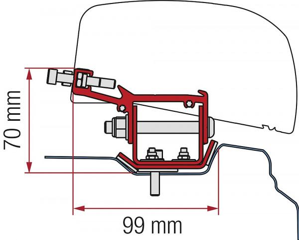 Adapter 3-tlg. Renault Trafic L2 ab 2014 für F40van