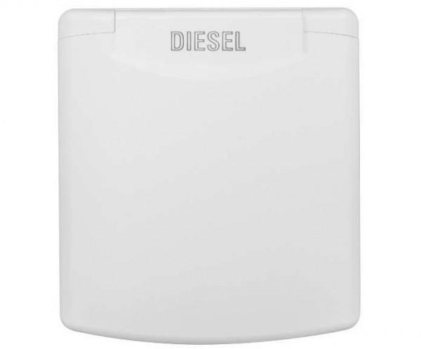 Diesel-Einfüllstutzen fiat bianco mit Magnetdeckel Schlauchanschluss 50 mm