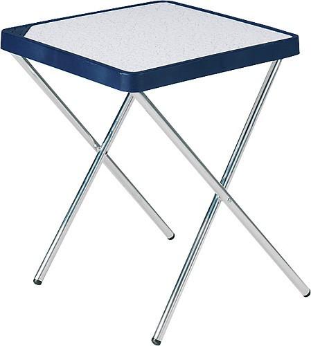 Tisch mit klapp- und abnehmbarem Aluminiumgestell