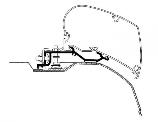 Adapter zu Omnistor Serie 6 Ducato, Jumper, Boxer ab 2007