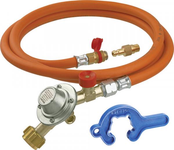 Kaasupullon liitäntäsarja 50 mbar 150 cm - Paineen alentimet 50 mbar - 9952389 - 1