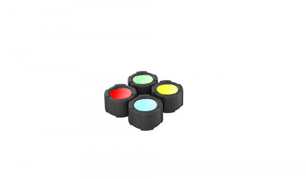 Farb Filter Set 39 mm für Taschenlampe MT14