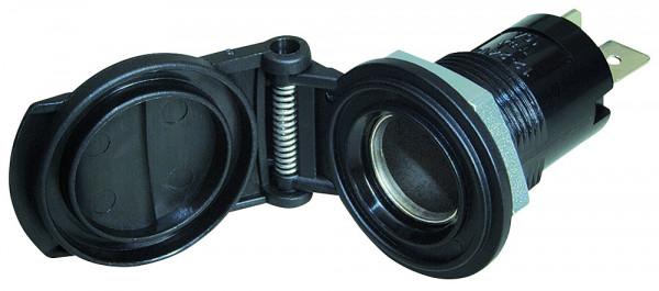 DIN-Einbau-Normsteckdose mit Deckel 16 A / 12 - 24 V