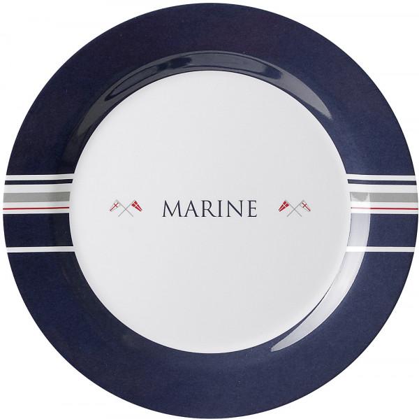 Essteller Marine Durchm. 26 cm blau/weiß