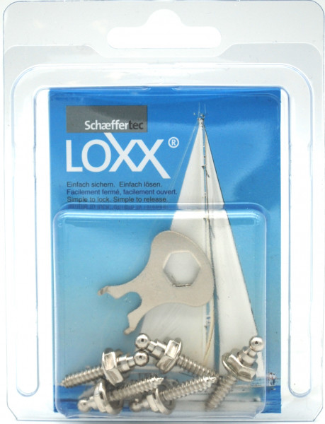 Loxx- Schraube Unterteil vernickelt
