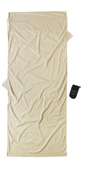 Leicht-Reiseschlafsack ägyptische Baumwolle mit Insect Shield