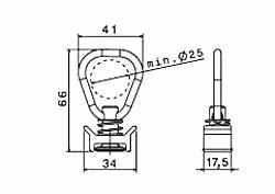 Zurrschienen-System - Fitting Ringdurchmesser 29,5 x 5 mm