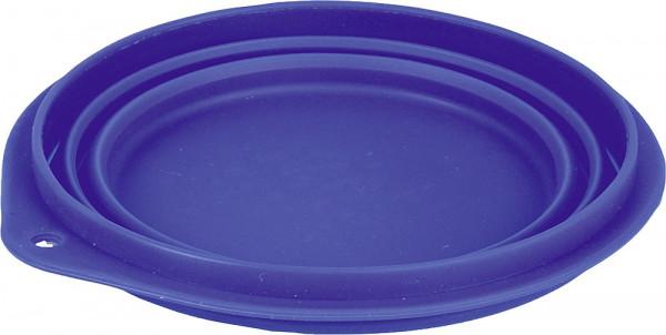 Reise-Hundenapf Silikon 500 ml blau