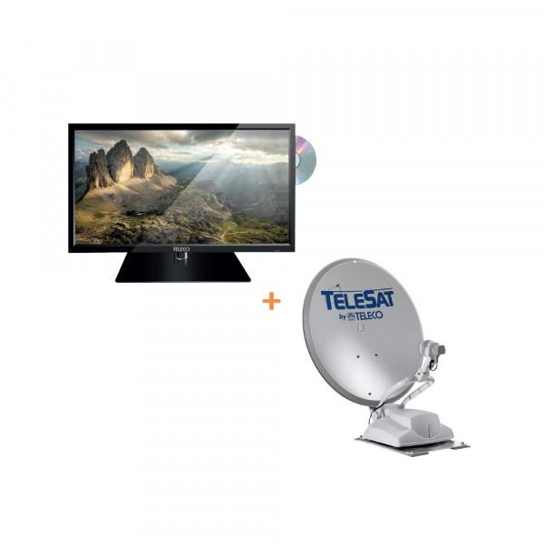 Satanlage Telesat BT 65 Smart ohne Bedienteil inkl. 22 Zoll TV TEK22D RV
