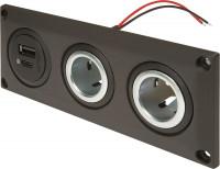 Einbausteckdose EV mit USB-C/A Doppelsteckdose + 2 Powersteckdosen