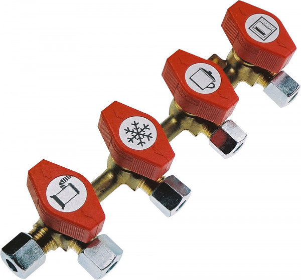 Verteilerblock PS 16 bar 4 Abgänge