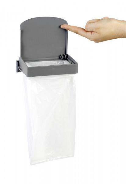 Müllbeutelhalter mit Deckel Trapsy inkl. 20 Müllbeutel grau