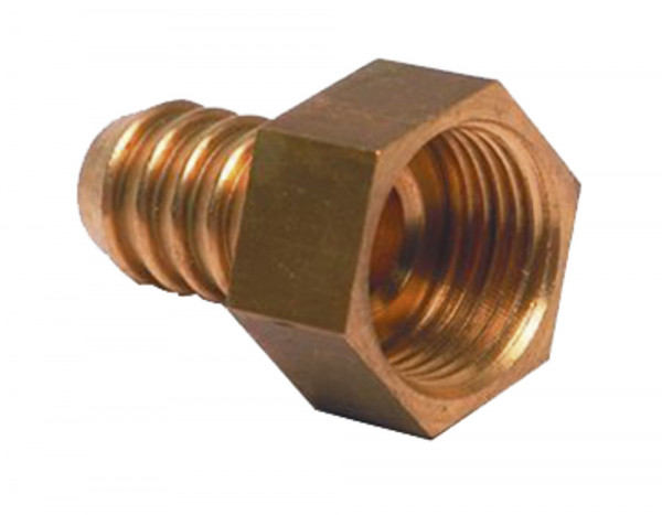Messing-Tülle gerade 1/2 Zoll x 12 mm für 12 mm Röhre
