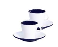 Set Espresso Linea Blue 4-tlg. weiß/blau