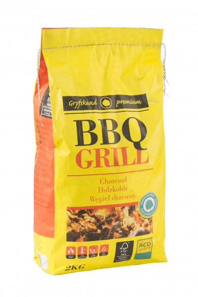 Puuhiilisäkki BBQ 2,5 kg - Grillit hiili,prikettit, puristeet - 9951469 - 1