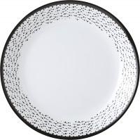 Dessertteller Pralin weiß/schwarz