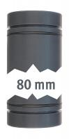 Rohr 40 mm beid. mit O-Ring 80 mm